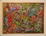 Another surrealistic looking painting at the National Gallery of Art (perhaps, a Honduran takeoff on Henri Rousseau).