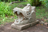 Parque Naciones Unidas is very pleasant with nice gardens and artifacts such as this Mayan-looking sculpture.