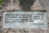 This plaque refers to Christ raising his hands to the sky in benediction.