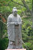 Close-up of the Confucius statue.