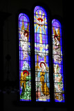 Some of the beautiful stained glass windows of the Basilica of Suyapo.