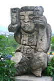 Most of the Mayan art is in front of the hotel such as this one.