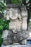 Another interesting Mayan sculpture at the Honduras Maya Hotel.