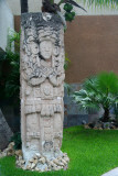 More Mayan art in front of the hotel.