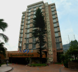 I stayed at the Honduras Maya Hotel in Tegucigalpa.  It is located on the top of a hill.