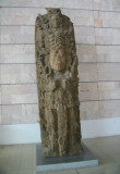 This Mayan sculpture is located in the lobby of the Honduras Maya Hotel.