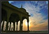 Cenotaphs at Sunset.  Jaisalmer.