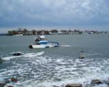 Rough surf on City Island