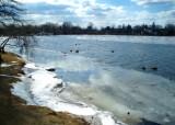Babylon Long Island winter scene