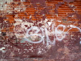 Grungy wall near South Street Seaport
