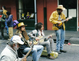 A street concert in Pre-Katrina New Orleans