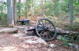 Abandoned artillery at Murfreesboro