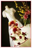 Wedding Dress,Cake,Flowers