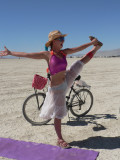We had a fun time doing  yoga on the playa