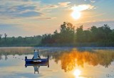 Swimming Raft In Sunrise 64583