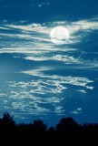 Clouds & Faux Moon 64555