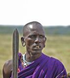 13718 - Masai warrior / Masai village - Serengeti - Tanzania