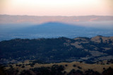 Mt Hamilton's Shadow across the valley