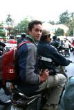Pascal dans les embouteillages d'Hanoi