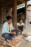 Fendeuses de bambou - Mai Chau - Vietnam