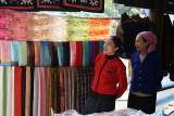 Soieries à vendre - Mai Chau - Vietnam
