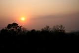 Soleil couchant à Angkor