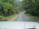 jalan di kawasan Kawah putih