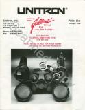 Unitron Price List 1992