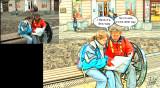 Cartoon With Speech Bubbles
