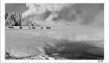 A very cold morning along the Firehole