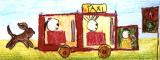 long paper - car, Jessica, age:6