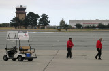 Refuellers awaiting PPM's 737 while the pilots . . .