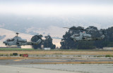 In the meanwhile, US Marine Cobra helicopters arrive.