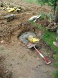 We concreted the backpump pipe joint