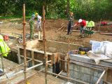 Preparing the shuttering for the towpath side quion coping