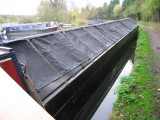 Martin put on the new top cloths a couple of weeks earlier when the boat was at Winkwell.