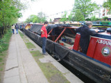 Getting the boat ready at Little Venice