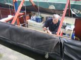 Graham removes the old battens ...