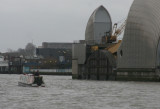 Lotus passes through the Thames Barrier