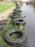 Loads of tyres outside the BE depot