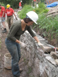 Newbie Sophie gets stuck into stonework