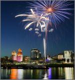 Cincinnati  Skyline and Tall Stacks 2006