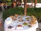 Ceviche, Guacamole, Pico de Gallo and chips - presentation style