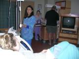 the nurse getting ready