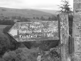Kirkby Lonsdale, signpost
