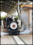 miniture actual steam train