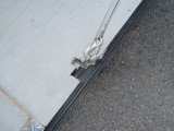I USED THE SAME PIN FOR THE SPRING LOADED WINCH TO ATTACH THE 12 VOLT WINCH TO