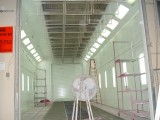 HERE IS ONE OF THE PAINT BOOTHS IN THE PROCESS OF BEING REFURBISHED