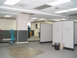HERE IS ONE OF THE OFFICES BEING DISMANTLED SO IT CAN BE REMODELED