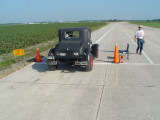 Lawson Chenoweth set two records in his Model A Ford 4 cylinder,  V4VGCC 86.959 and V4VGC 90.796